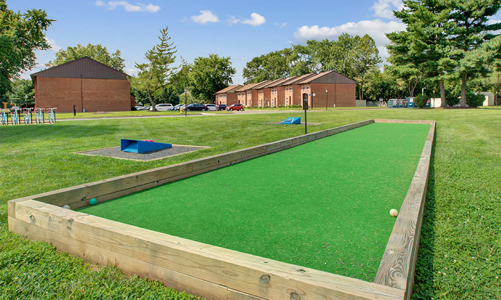 Bocce ball at Sherwood Village Apartment & Townhomes in Eastampton, New Jersey