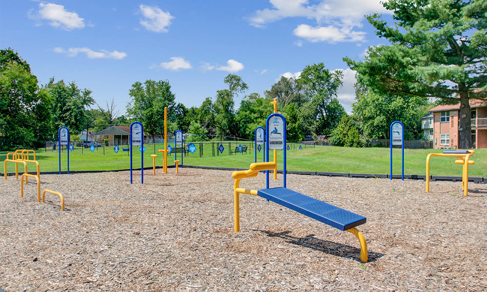 Outdoor fitness at Sherwood Village Apartment & Townhomes in Eastampton, New Jersey