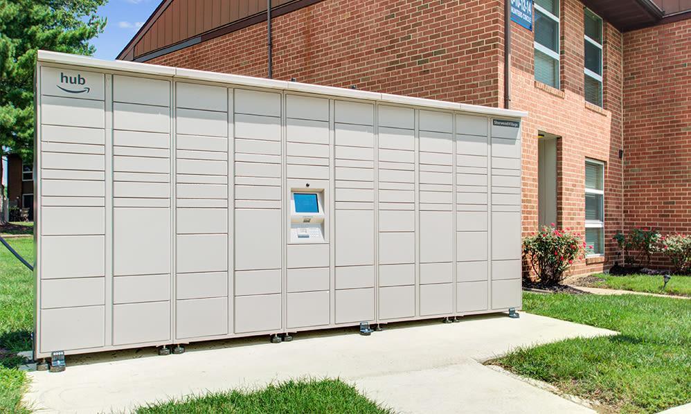 Amazon hub at Sherwood Village Apartment & Townhomes in Eastampton, New Jersey