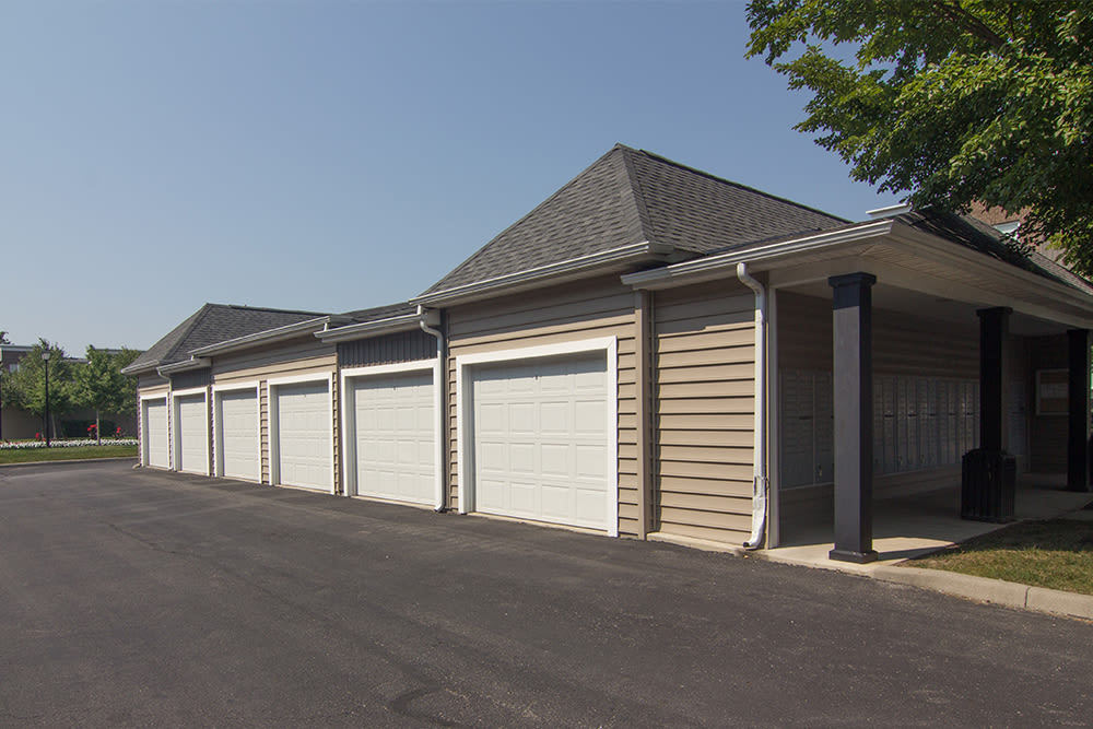 Garages available at Palmer House Apartment Homes in New Albany, Ohio
