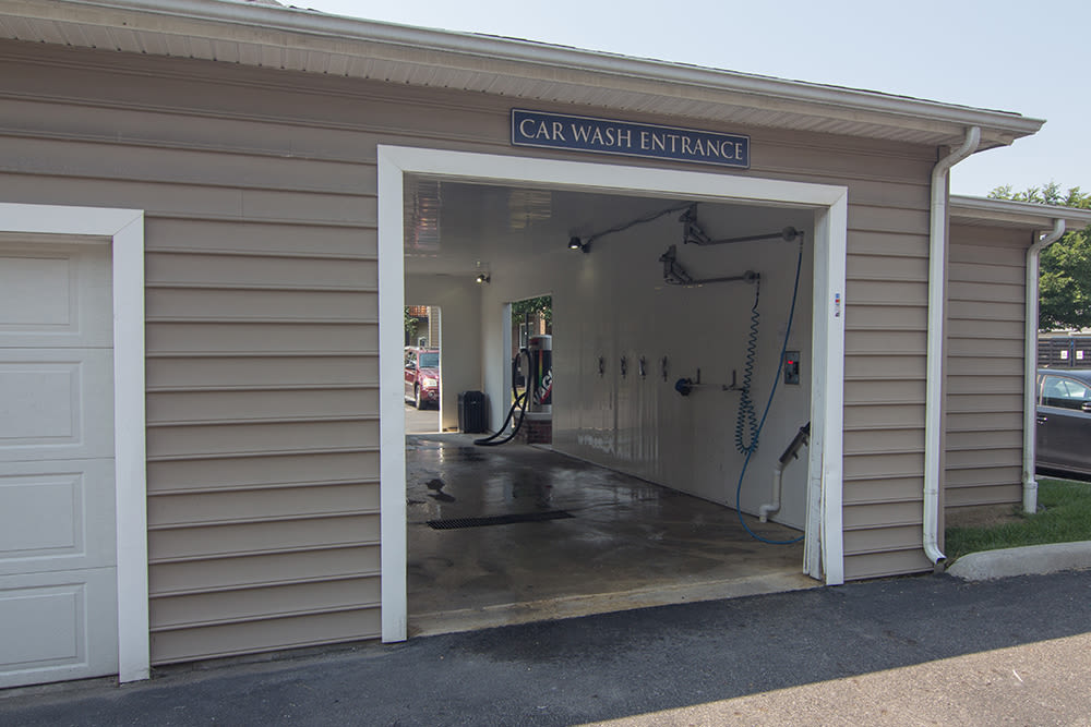 Car care center at Palmer House Apartment Homes in New Albany, Ohio