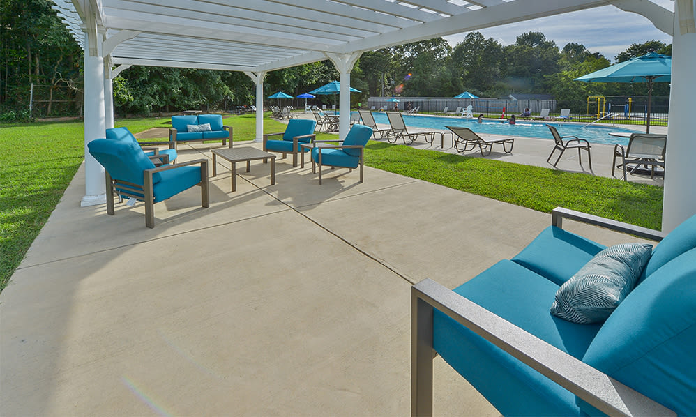 Sundeck at apartments in Eatontown, New Jersey