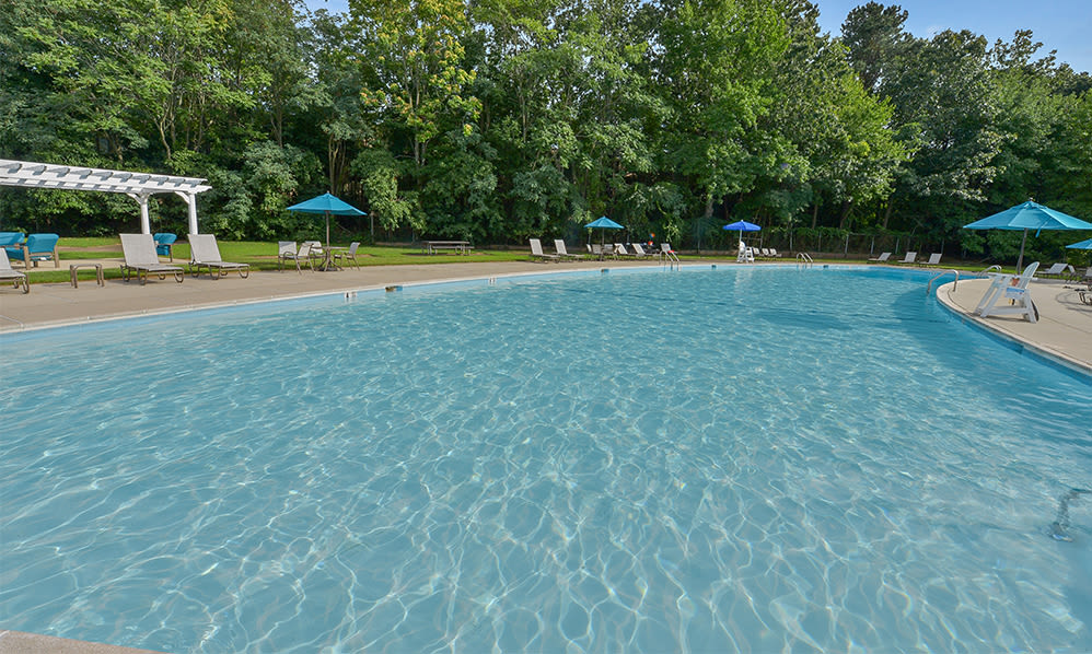 Swimming pool at apartments in Eatontown, New Jersey