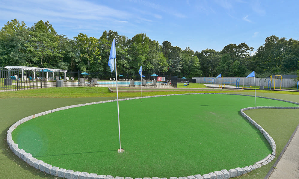 Putting green at apartments in Eatontown, New Jersey