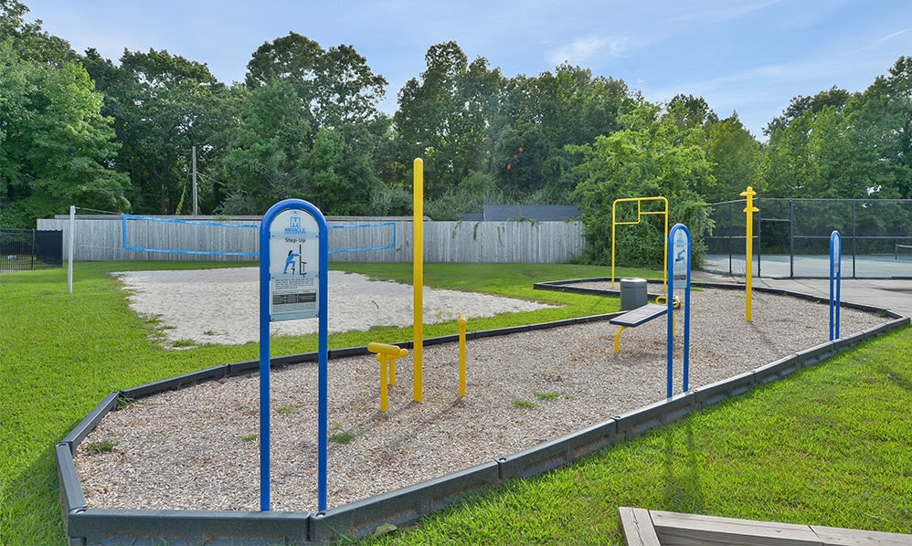 Outdoor fitness at Eatoncrest Apartment Homes in Eatontown, New Jersey