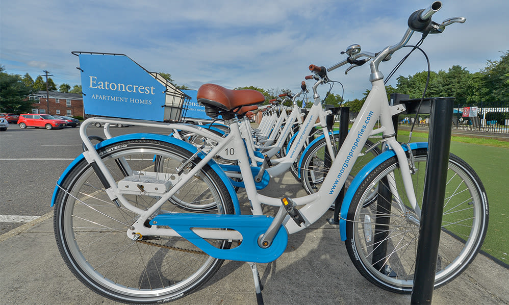 Bike share at apartments in Eatontown, New Jersey