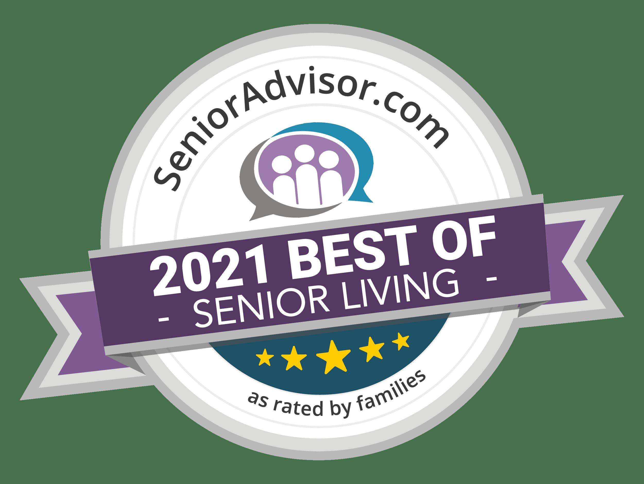 2018 best of senior living award for Chestnut Knoll in Boyertown, PA