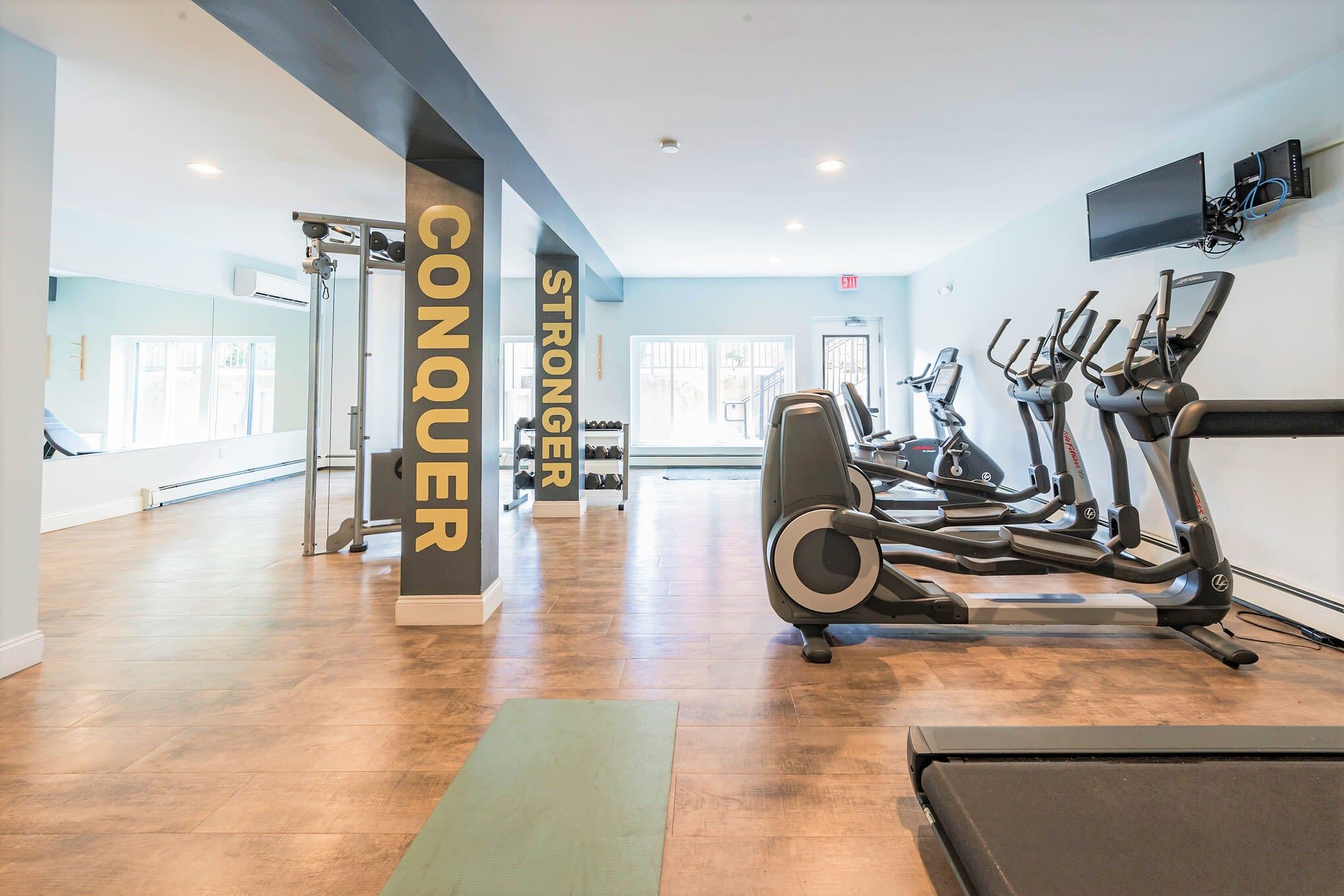 Fitness center at Eagle Rock Apartments at West Hartford in West Hartford, Connecticut
