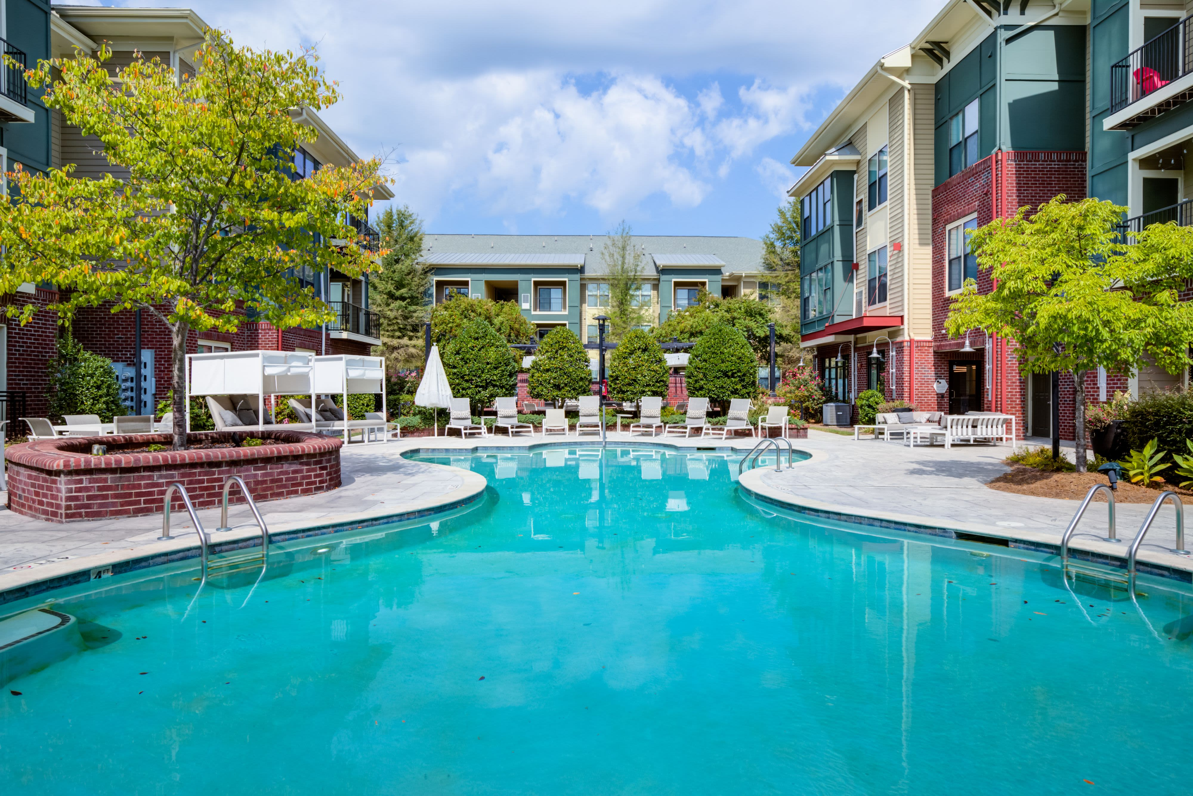 Swimming pool at Celsius Apartment Homes in Charlotte, North Carolina
