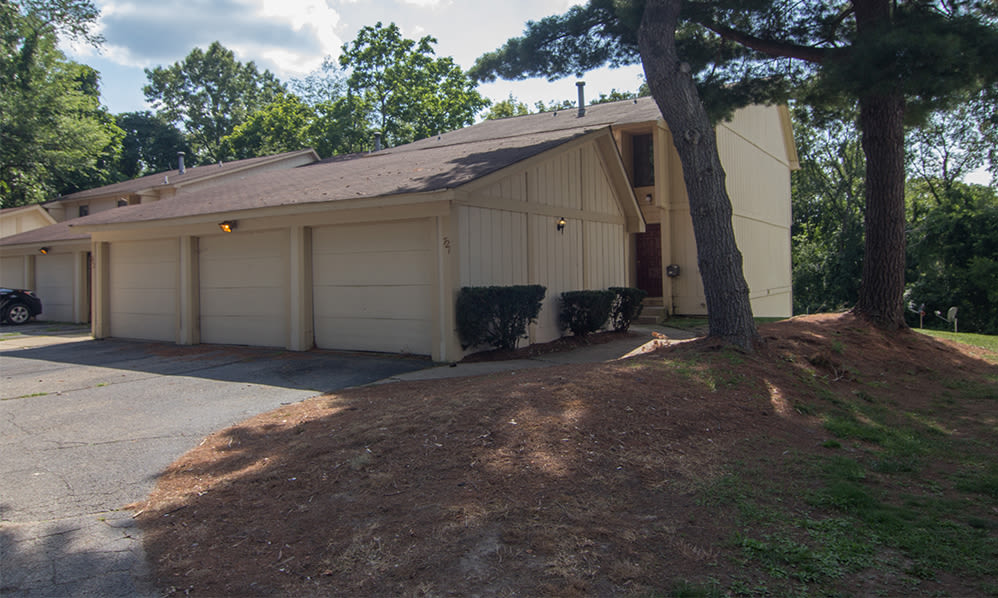 Townhome garages at Arbors of Battle Creek Apartments & Townhomes in Battle Creek, Michigan
