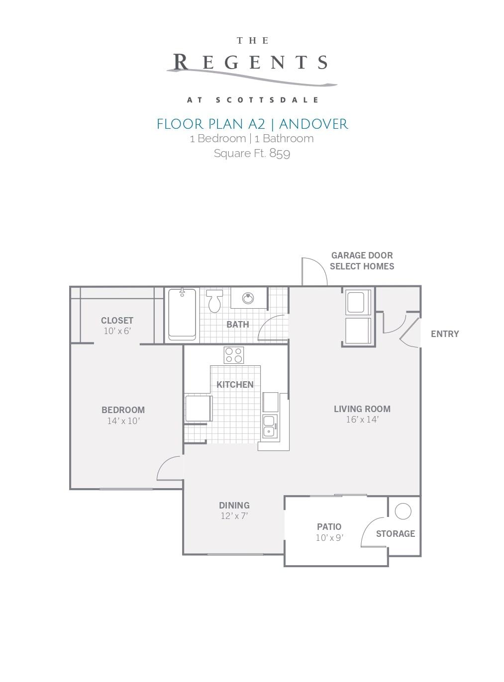 1 Bedroom   1 Bathroom Square Ft. 859