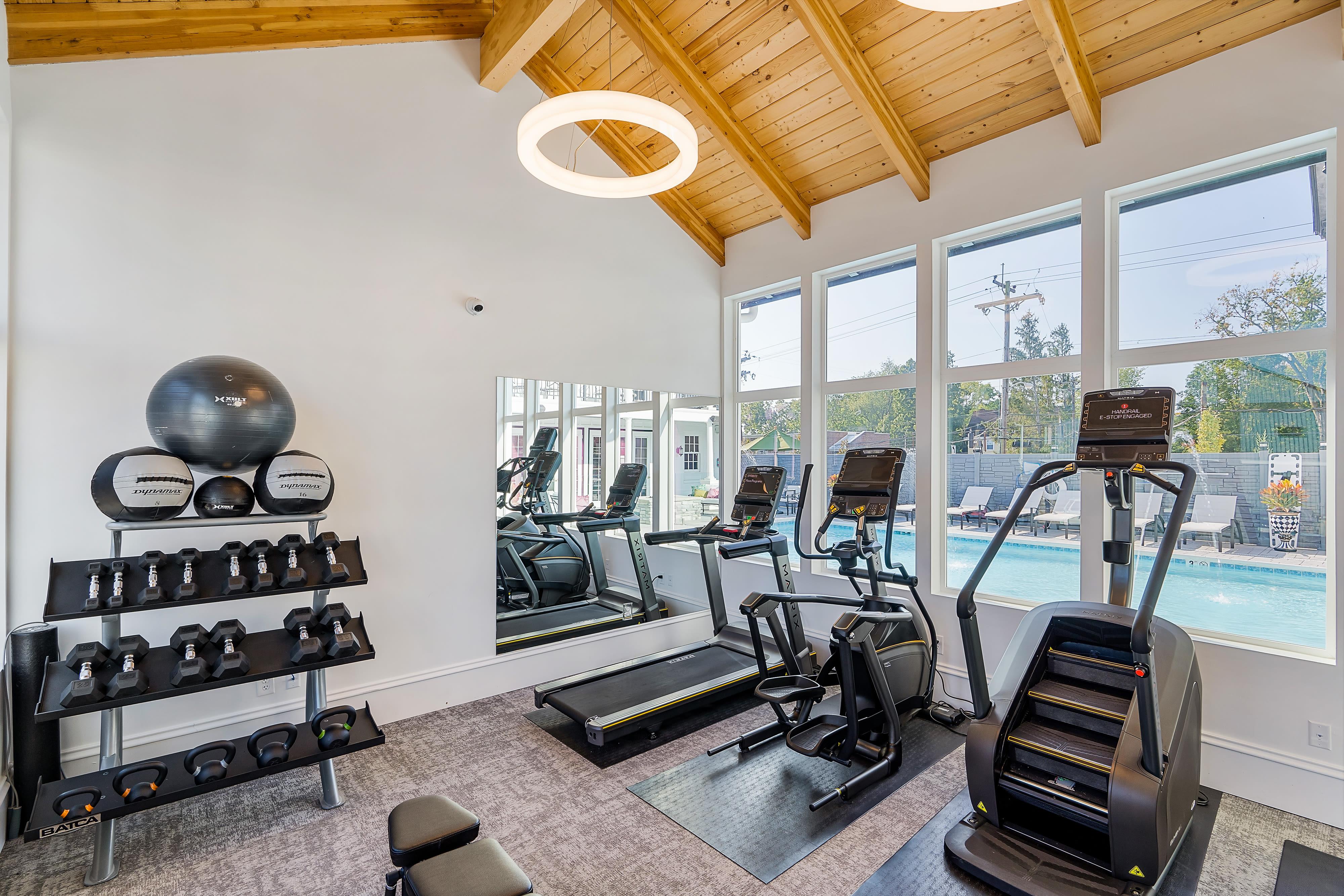 Fitness center at The Jameson in Cincinnati, Ohio