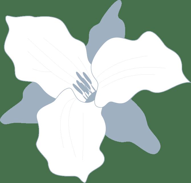 The Flats at West Broad Village flower logo