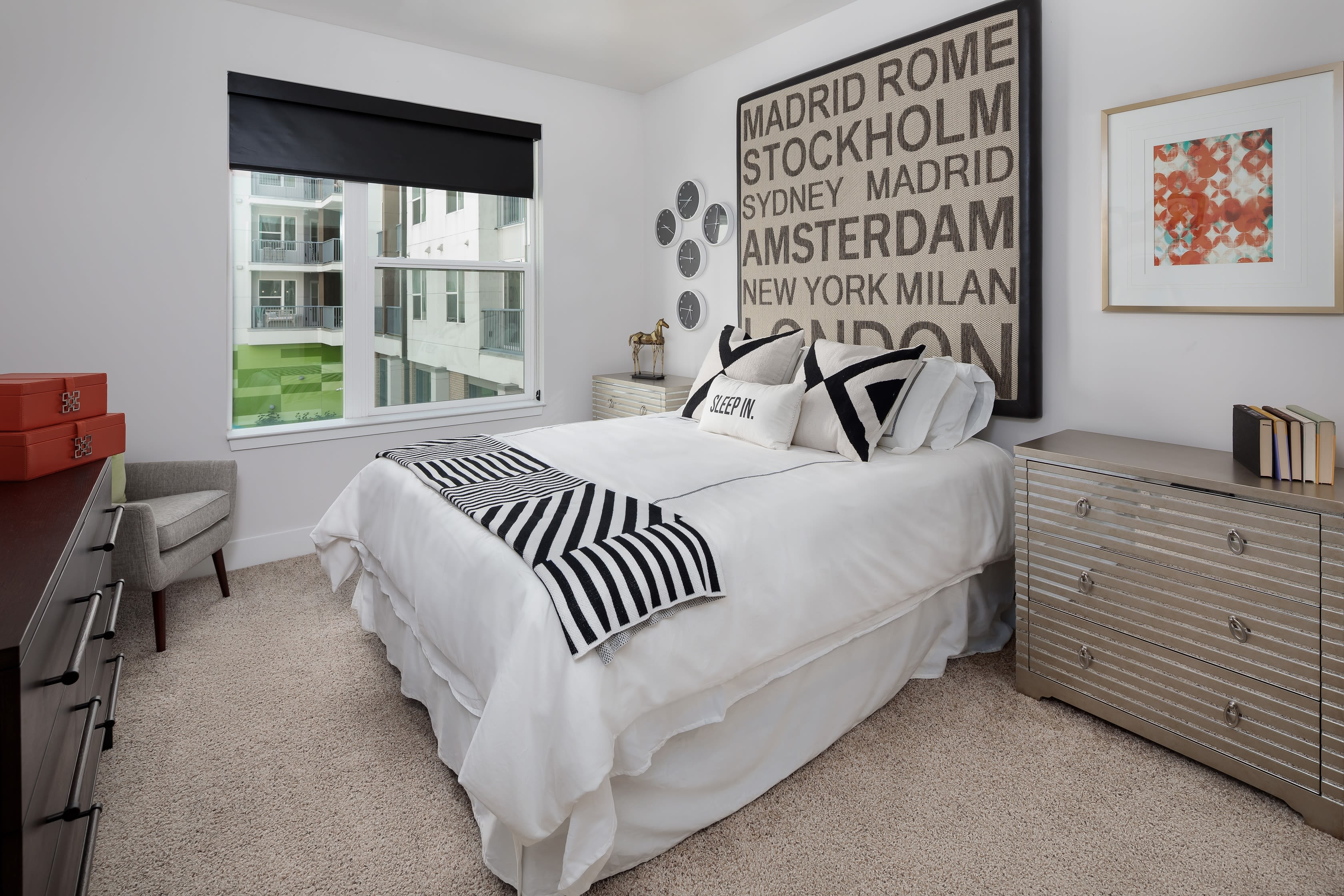 Large bedroom with tons of natural light at Central Station on Orange in Orlando, Florida