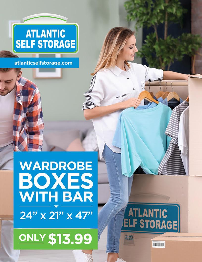 wardrobe boxes with bar $13.99
