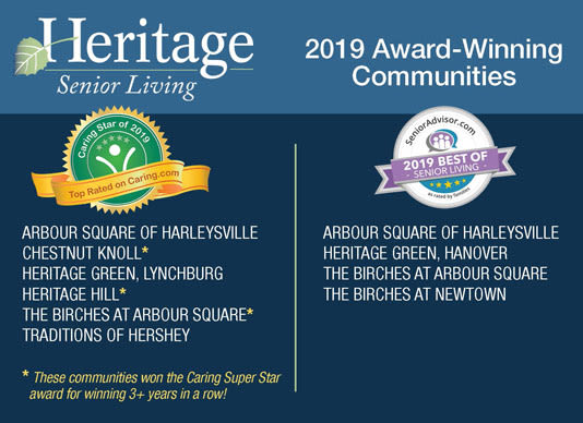 Heritage Senior Living Award winning communities