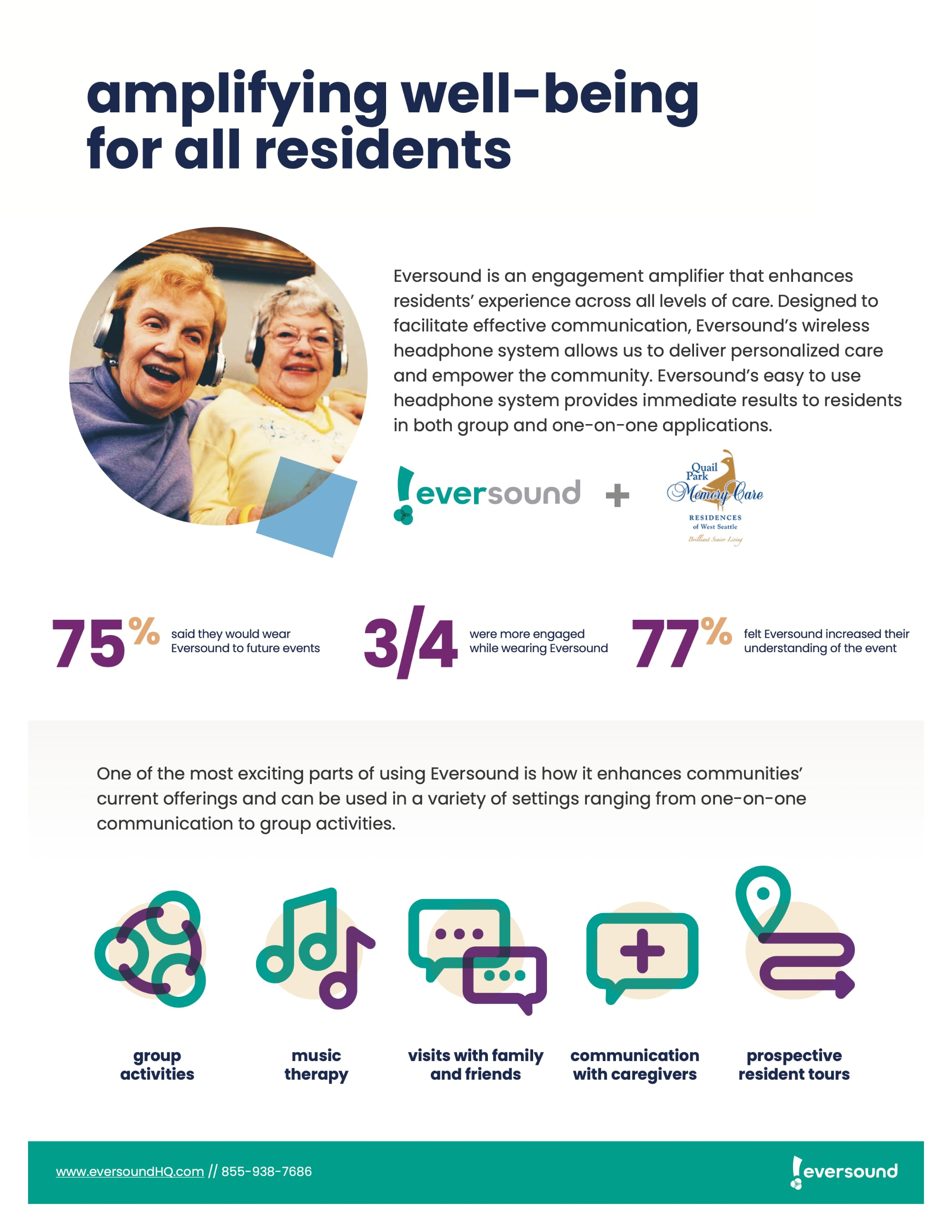 Amplifying well-being for all residents flyer