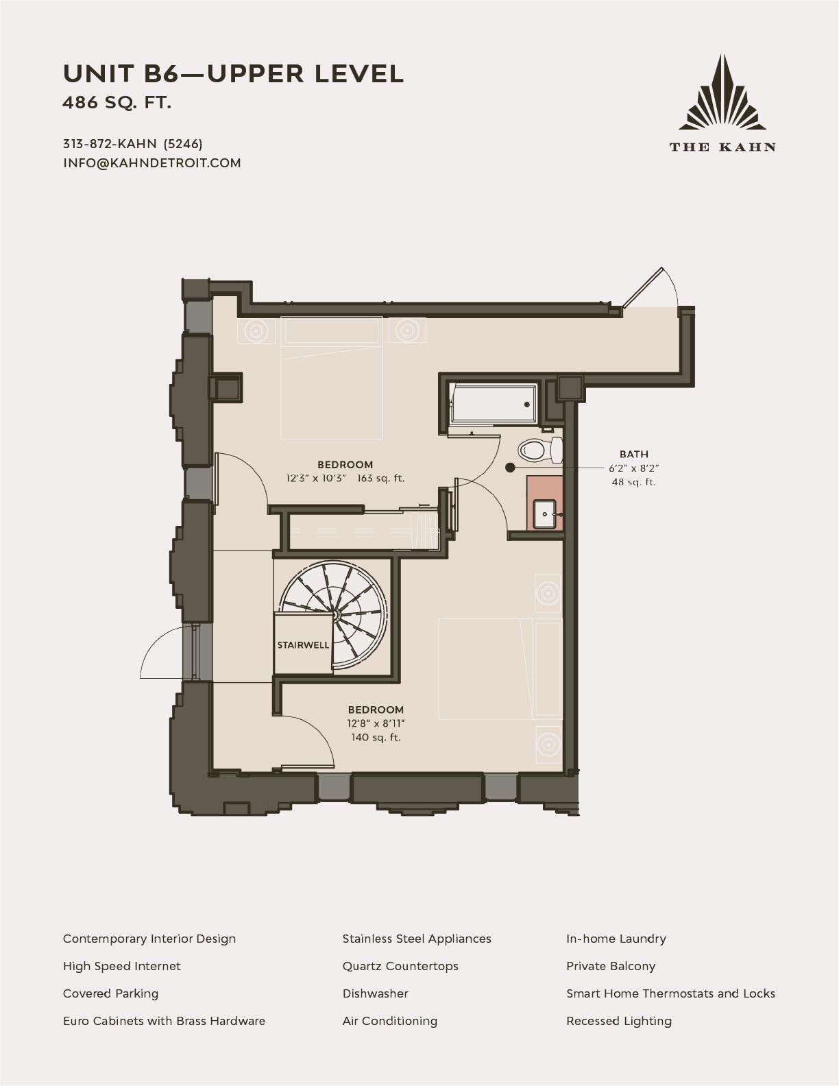 b6 upper level floor plan