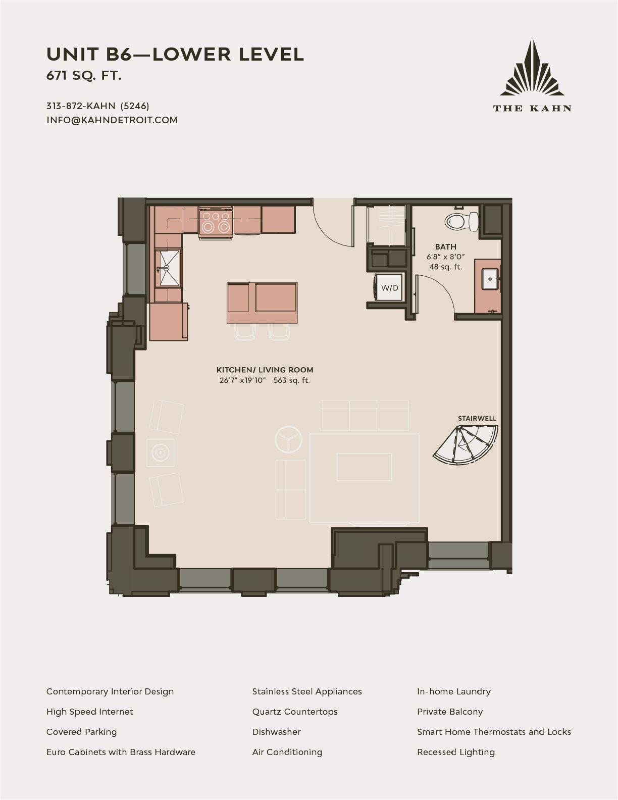 B6 Lower level floor plan