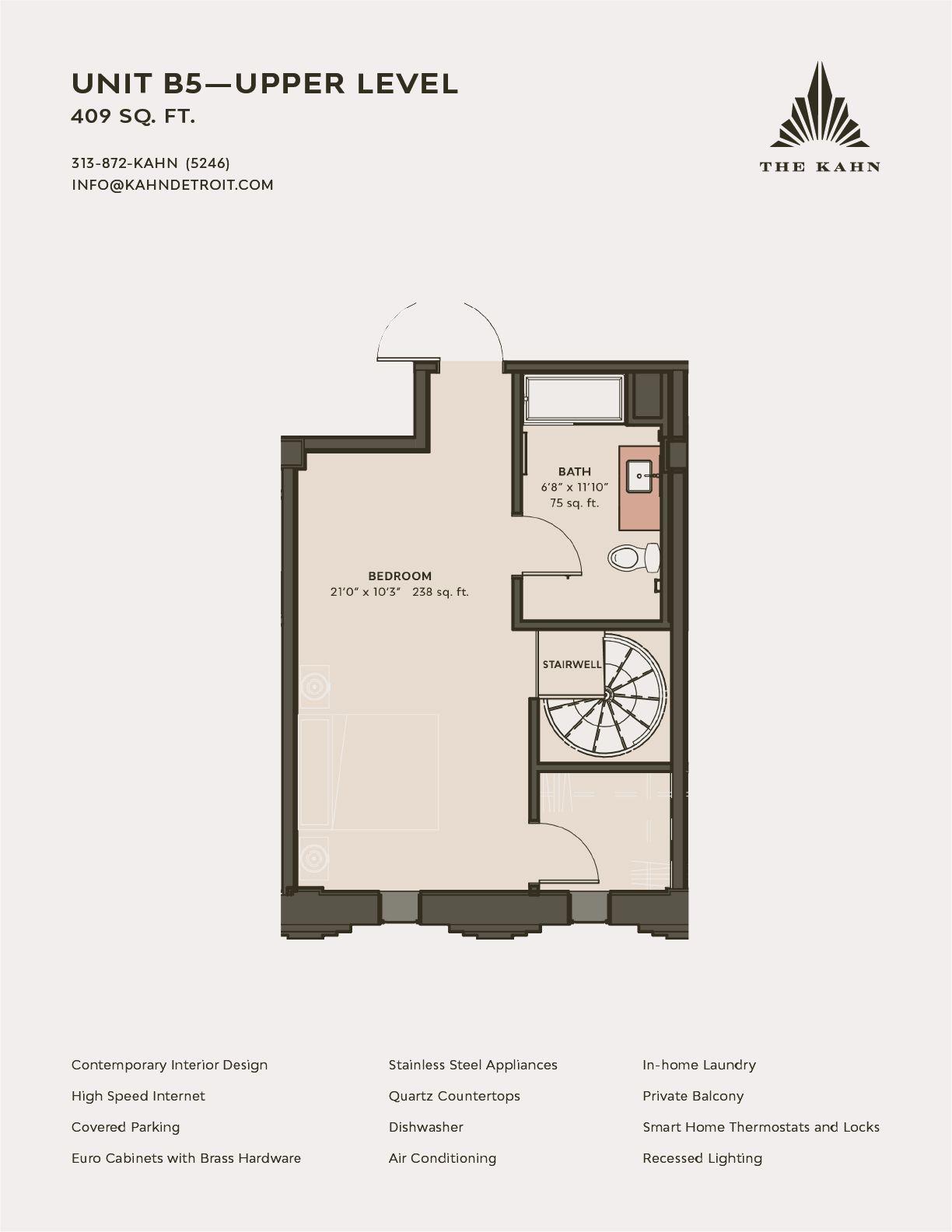 b5 upper level floor plan