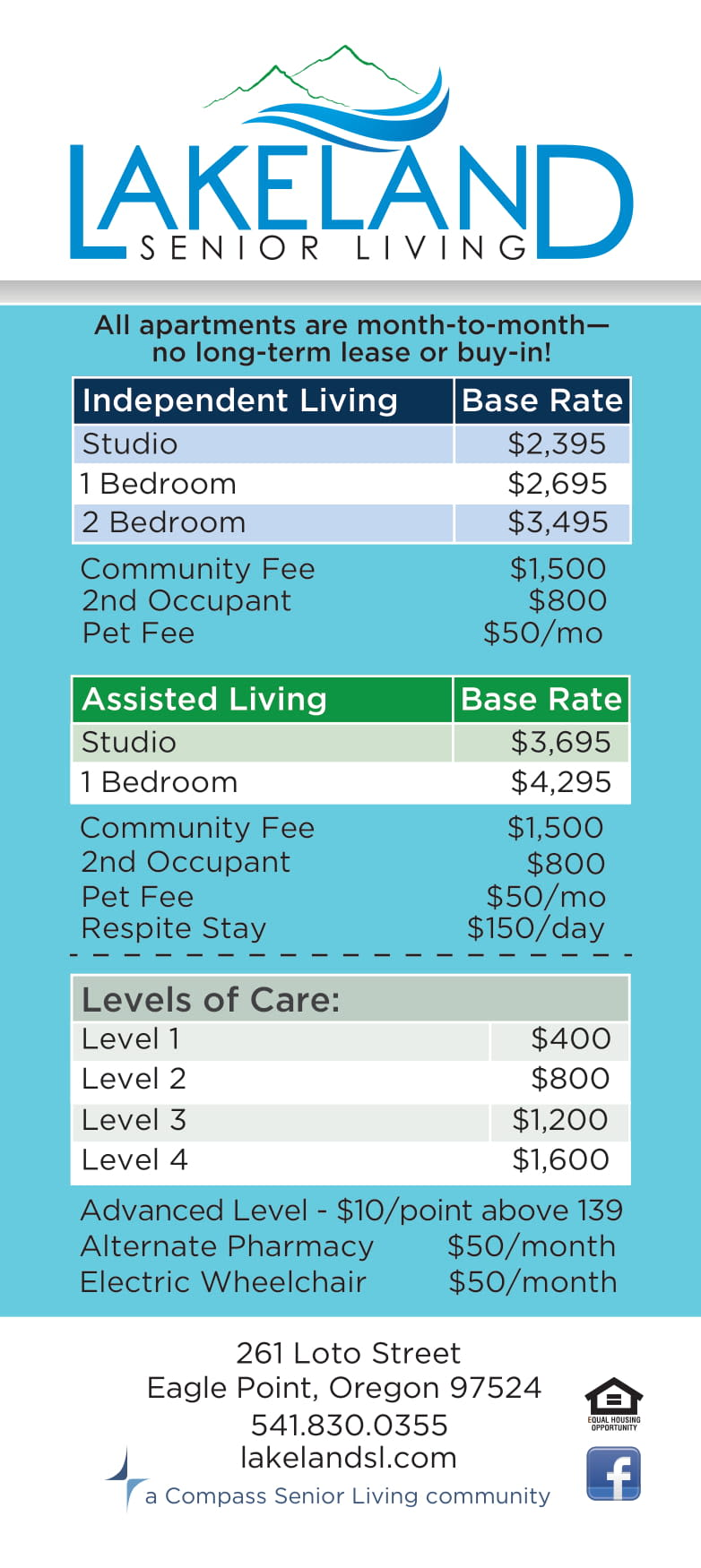 Lakeland Senior Living rates