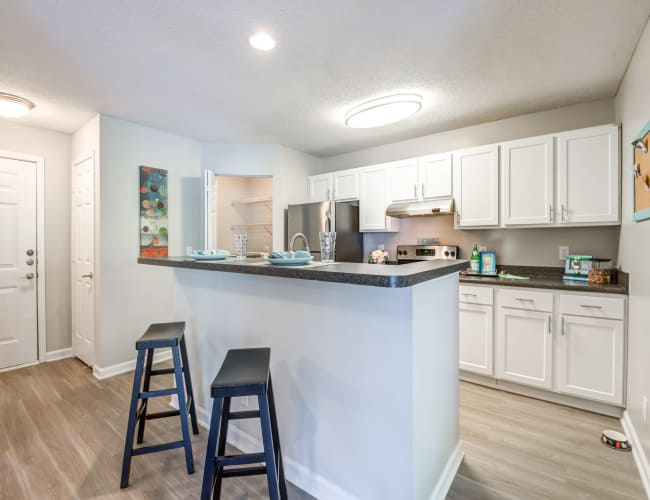 Floor plans at The Village Apartments