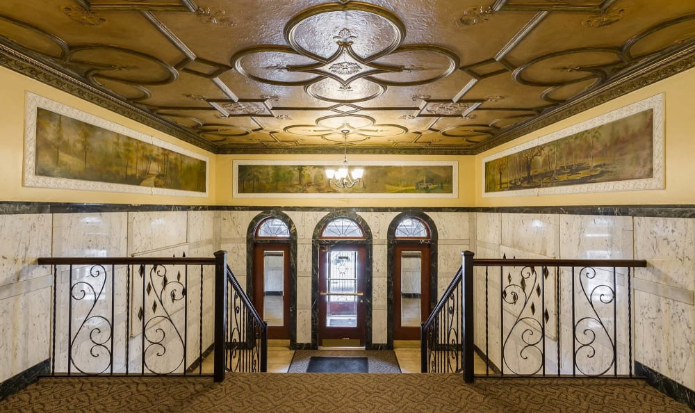 Barrington Apartments lobby in Rochester, New York