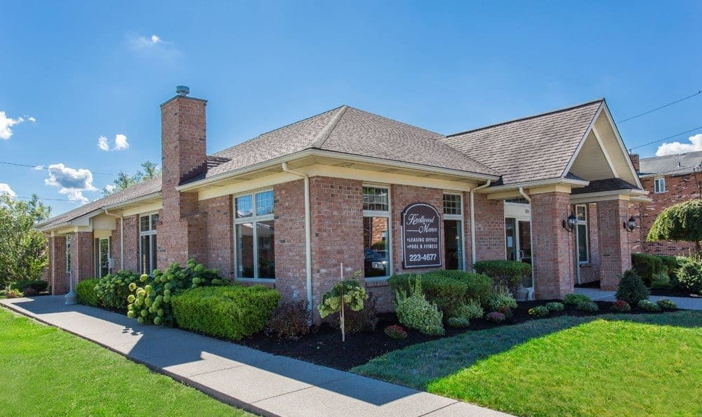 Leasing office at Knollwood Manor Apartments in Fairport, New York