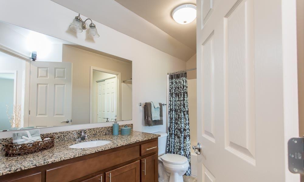 Luxury bathroom at Preserve at Autumn Ridge in Watertown, New York