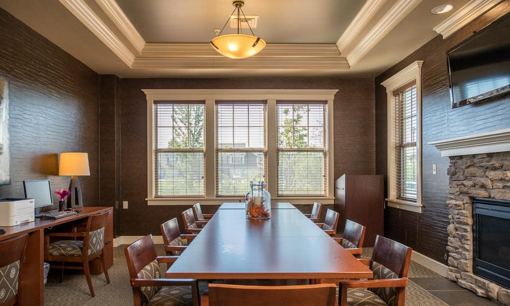 Community dining room at Preserve at Autumn Ridge in Watertown, New York