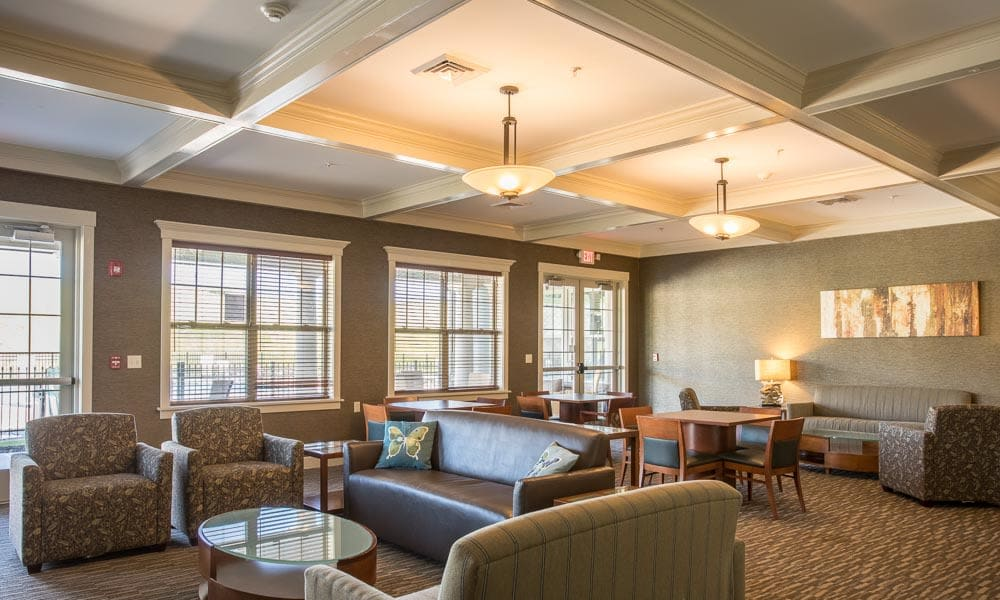 Community lounge area at Preserve at Autumn Ridge in Watertown, New York