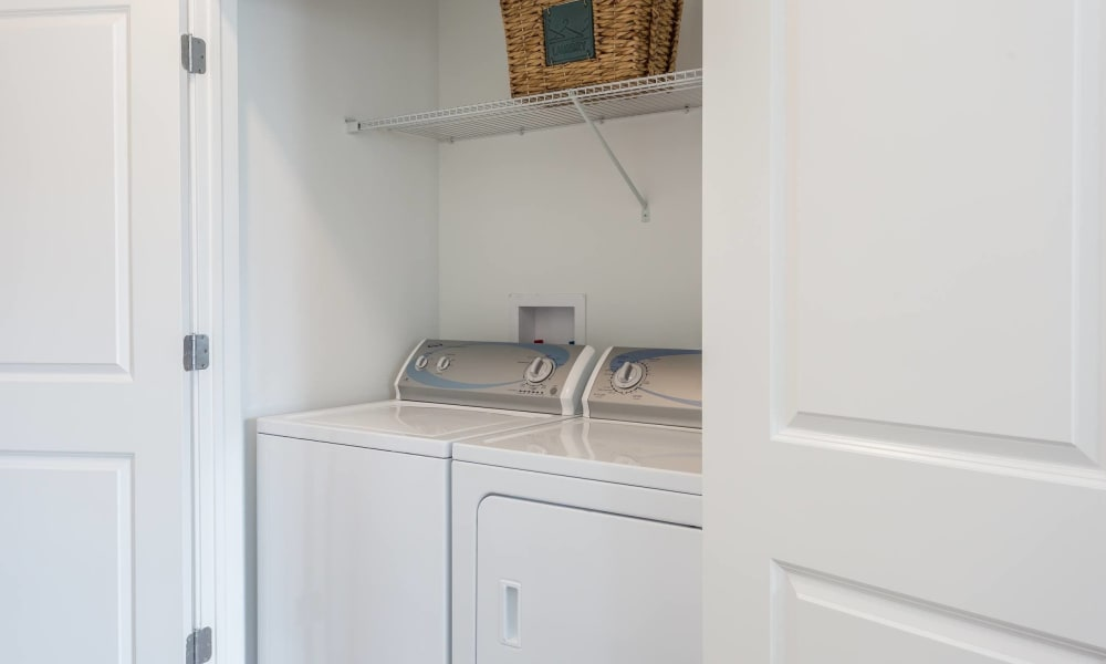In-unit washer and dryer at Canal Crossing in Camillus, New York