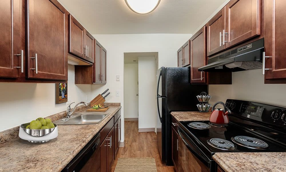 Kitchen at The Meadows Apartments in Syracuse, New York
