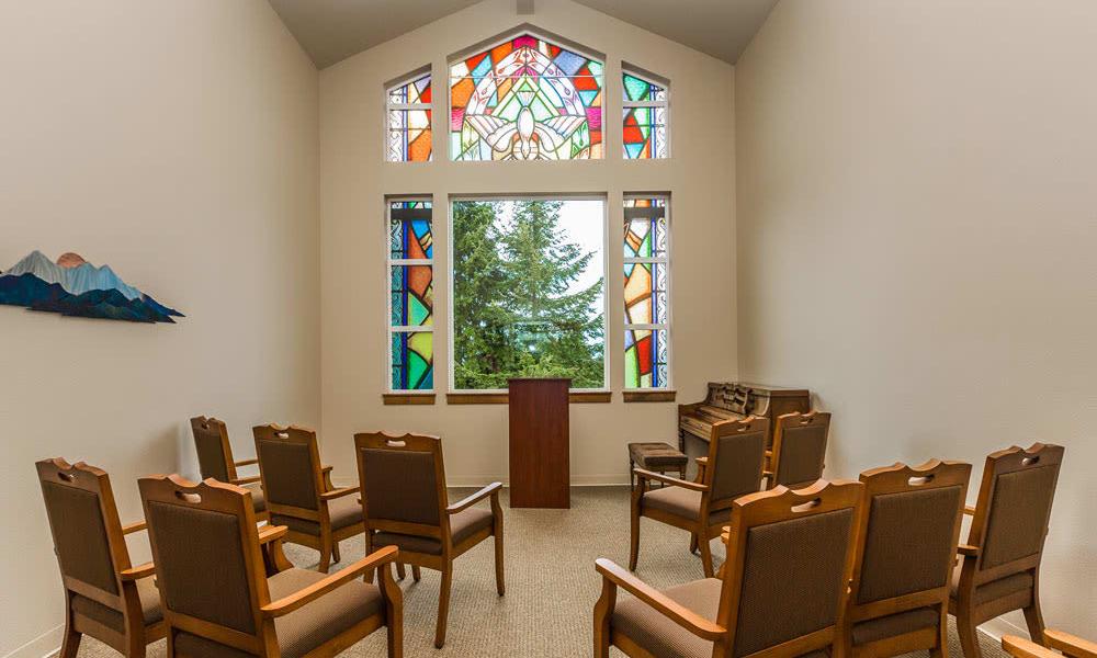 In house chapel at Quail Park at Browns Point in Tacoma, Washington