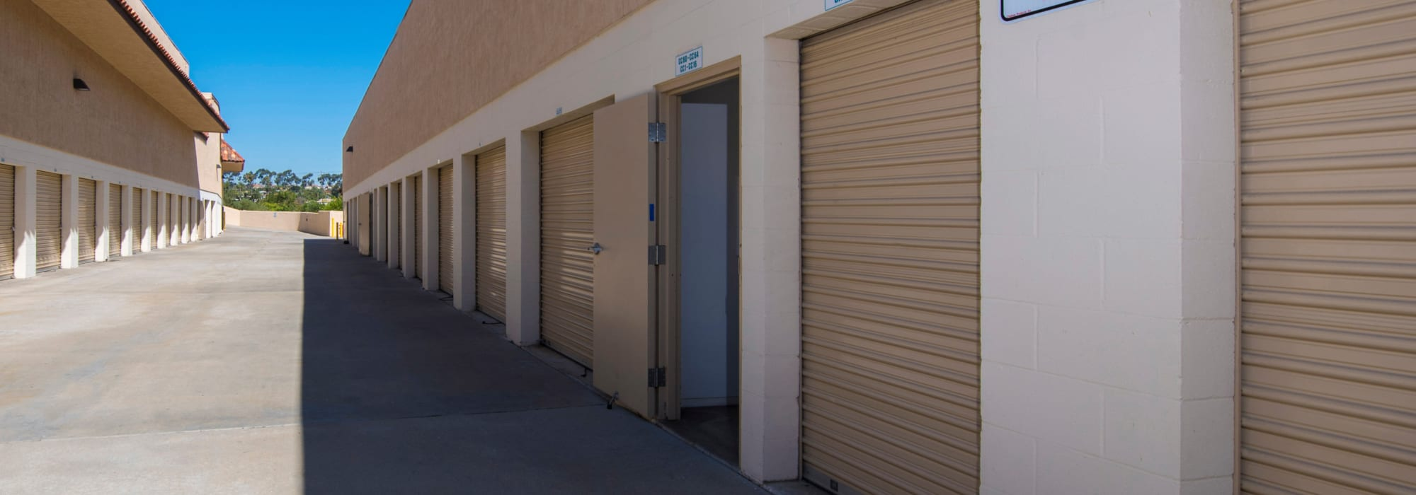 Outdoor units at National/54 Self Storage in National City, California