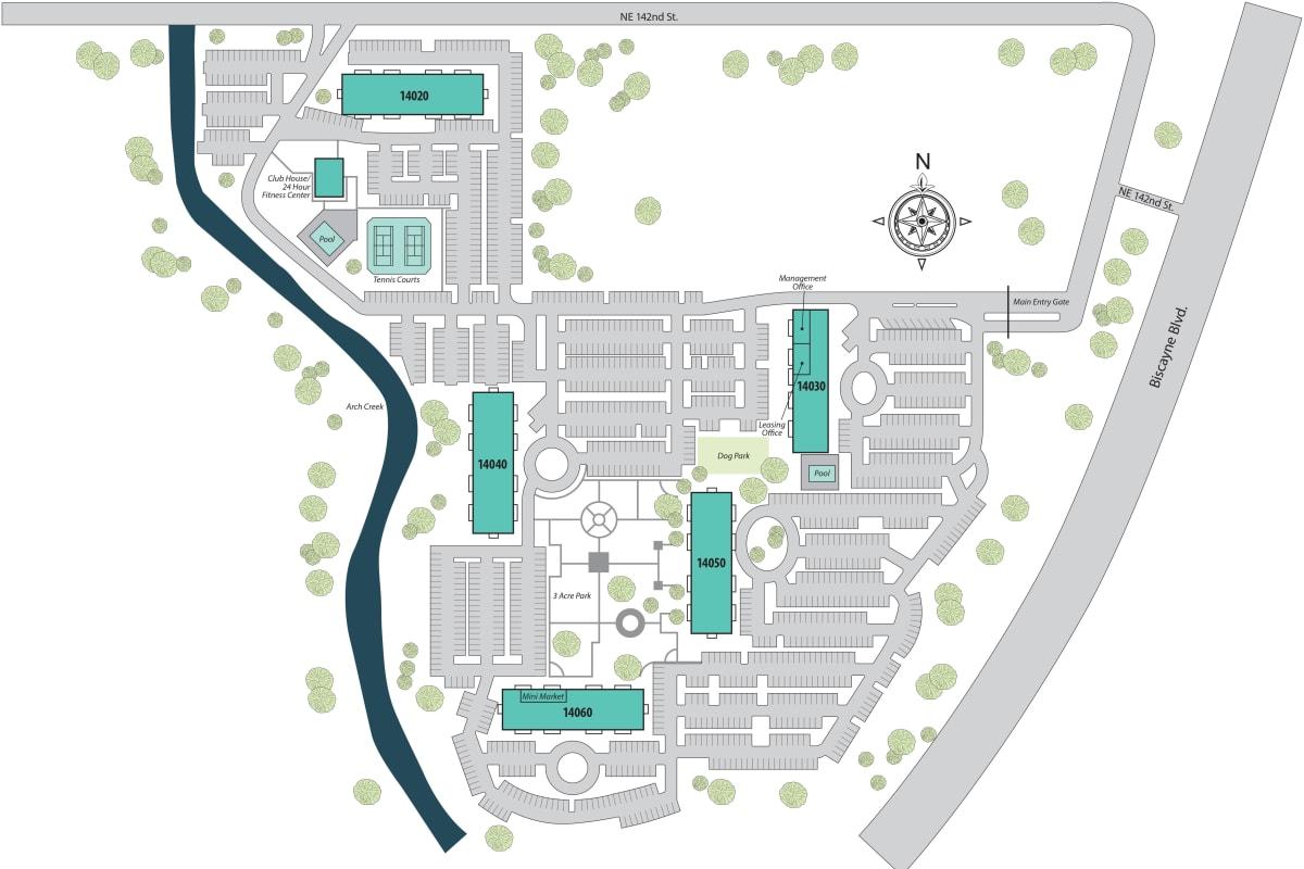 Site plan for Aliro in North Miami Beach, Florida