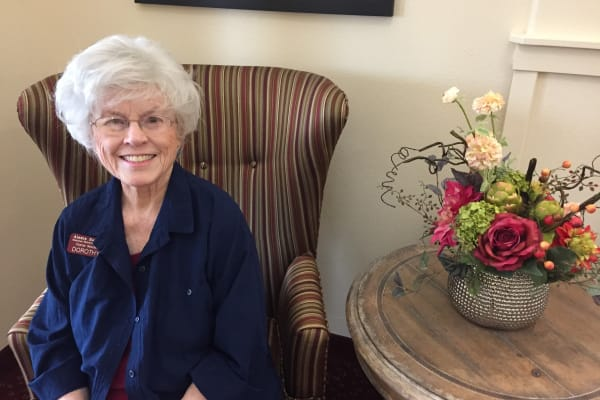 Dorothy Sanders at Capitol Ridge Gracious Retirement Living in Bristow, Virginia