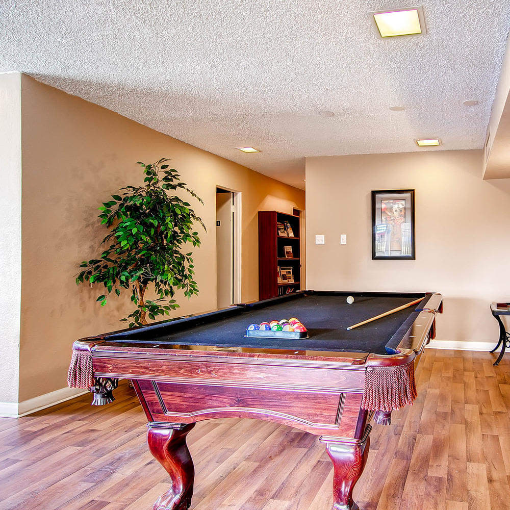 Pool table at Arvada Green Apartment Homes in Arvada, Colorado