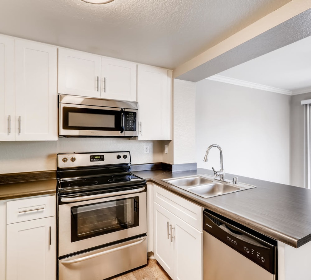 Kitchen with plenty of counter top space at Hidden Hills Condominium Rentals in Laguna Niguel, California