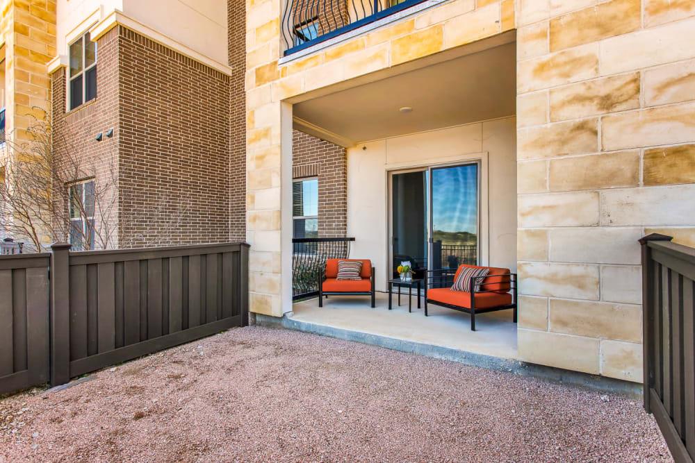 Private Patio at Apartments in San Antonio, Texas