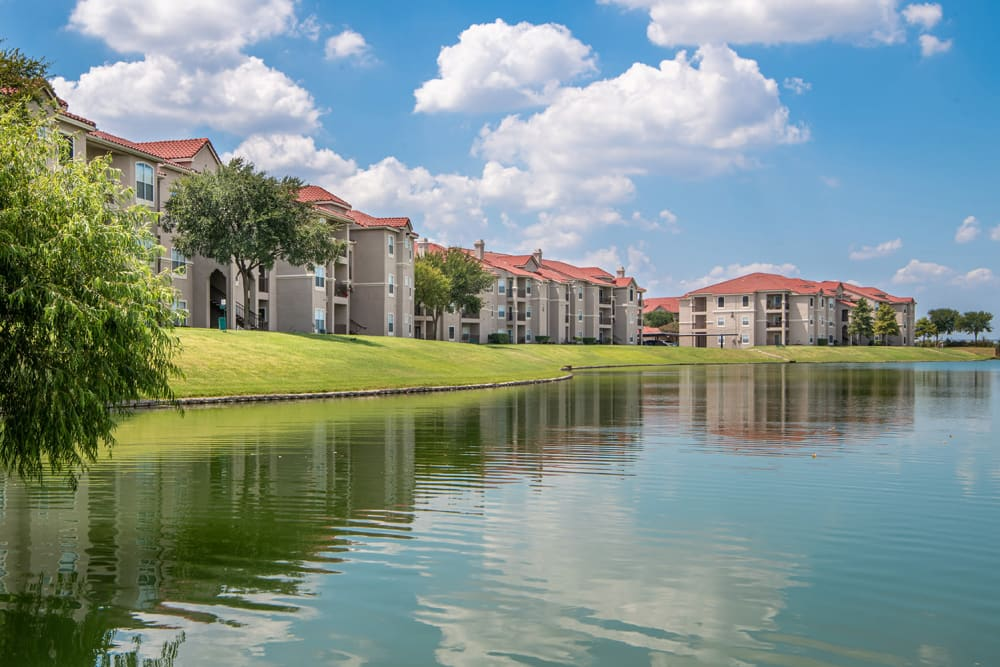 Lakeside View of Crescent Cove at Lakepointe in Lewisville, TX