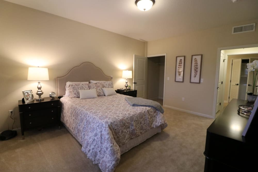 A spacious bedroom at Harmony at Five Forks in Simpsonville, South Carolina