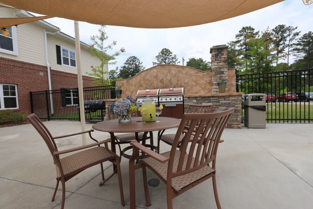 Outdoor seating at The Harmony Collection at Columbia in Columbia, South Carolina
