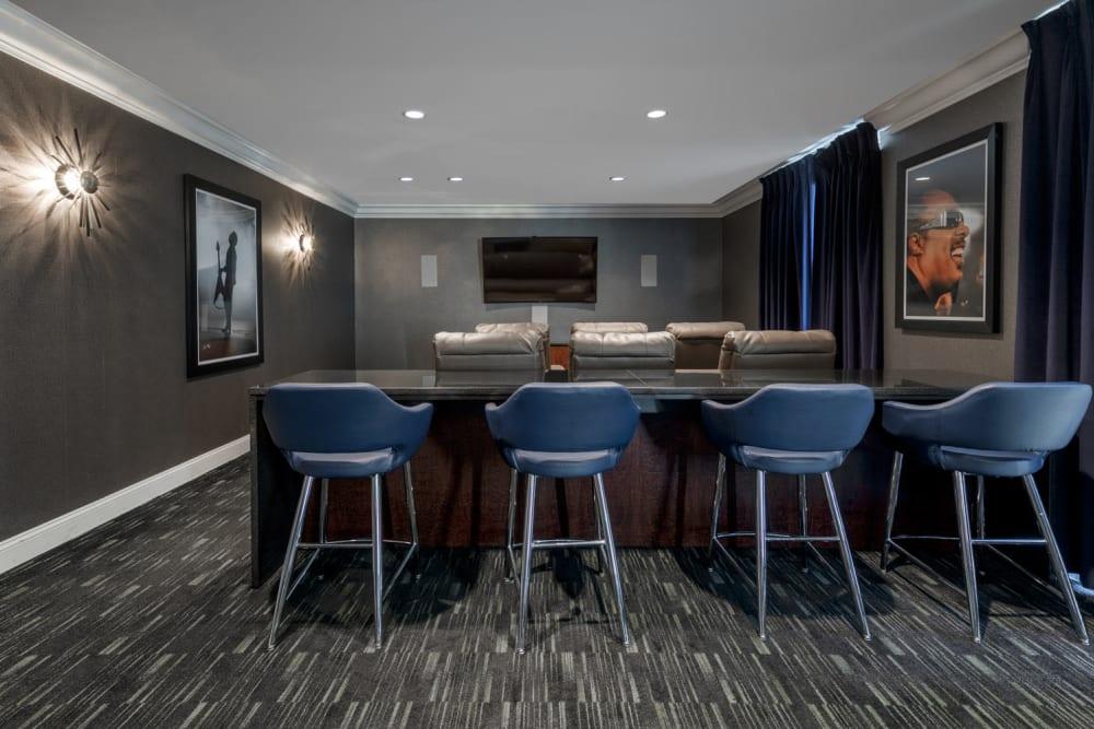 Resident lounge at The Royal Athena in Bala Cynwyd, Pennsylvania