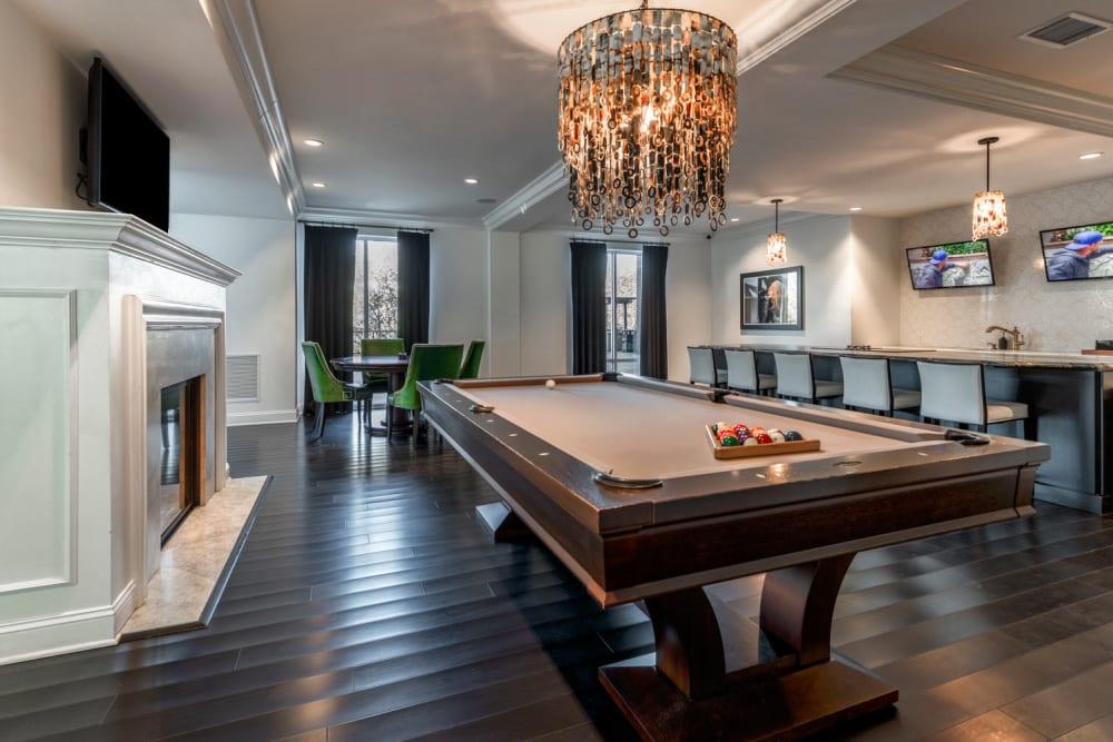 Billiards table at The Royal Athena in Bala Cynwyd, Pennsylvania