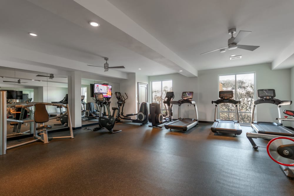 Fitness center at The Royal Athena in Bala Cynwyd, Pennsylvania