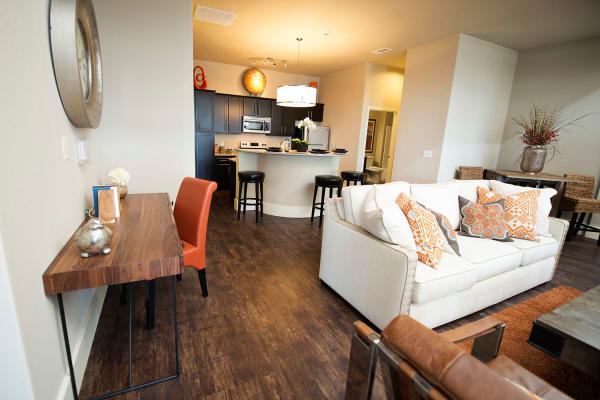 Spacious living area at Tradan Heights in Stillwater, Oklahoma