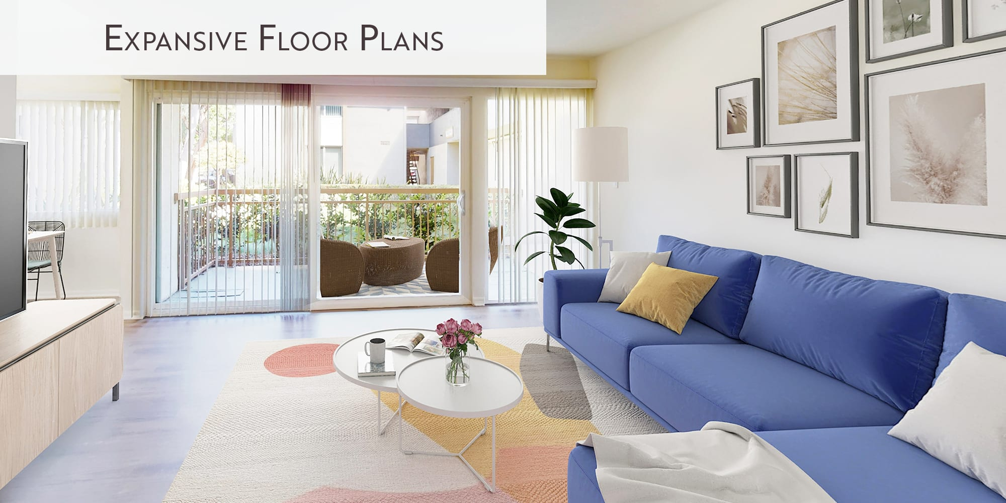 Expansive floor plans at West Park Village in Los Angeles, California