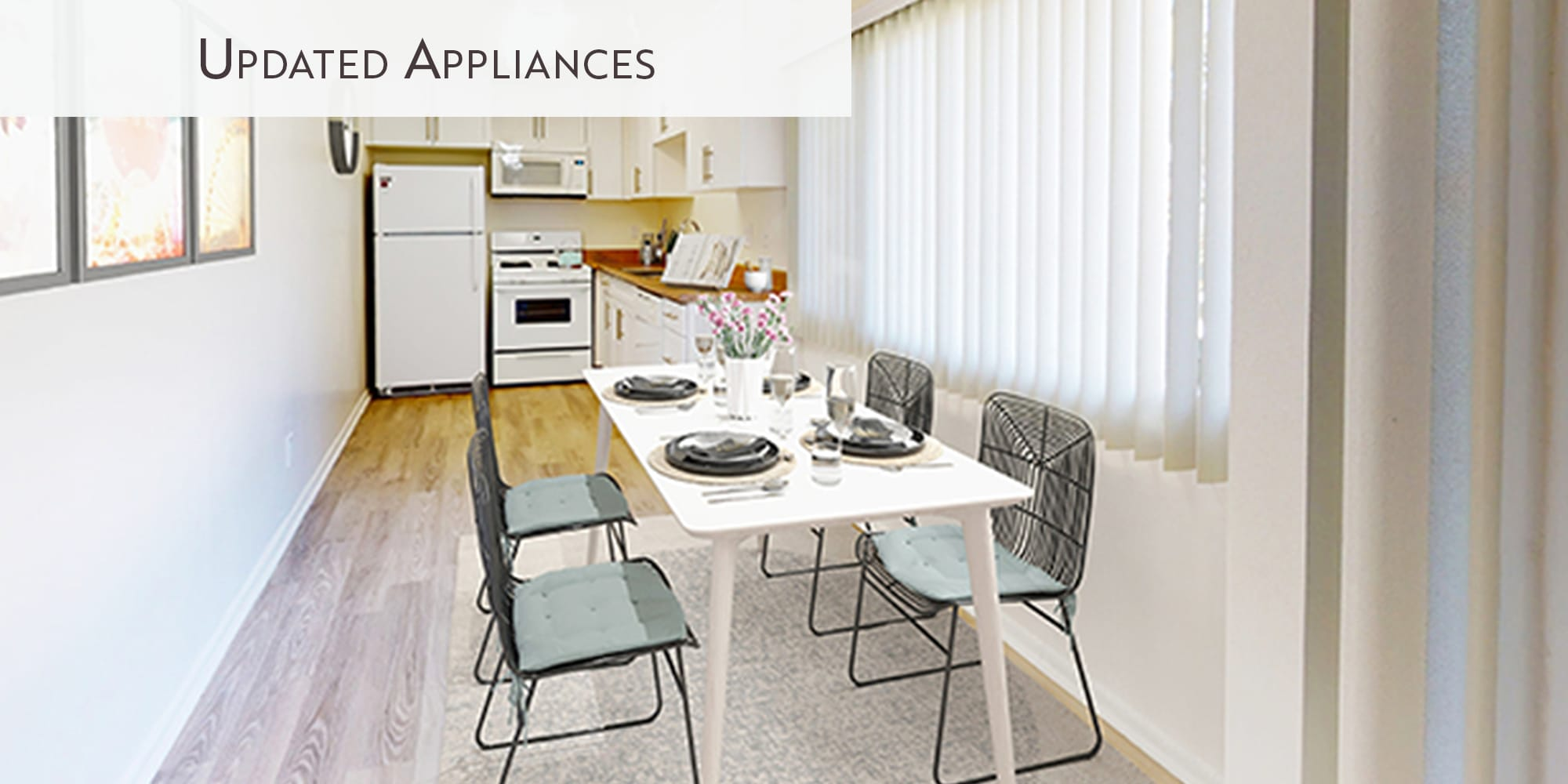 Updated appliances at West Park Village in Los Angeles, California