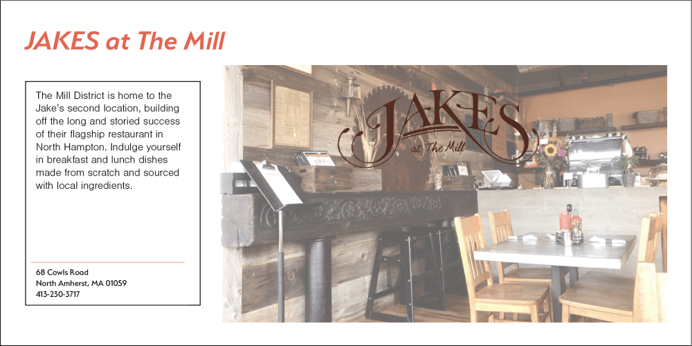 Jakes at the Mill at North Square Apartments at The Mill District in Amherst, Massachusetts